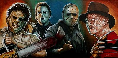 Painting - The Fearsome Four by Al  Molina