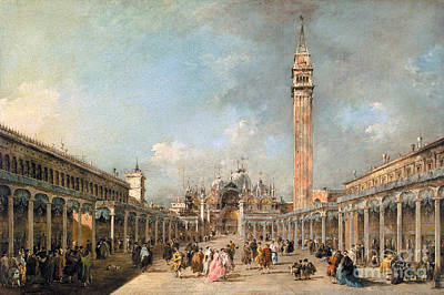 Francesco Guardi Painting - The Feast Of The Ascension In St. Markas Square by Celestial Images