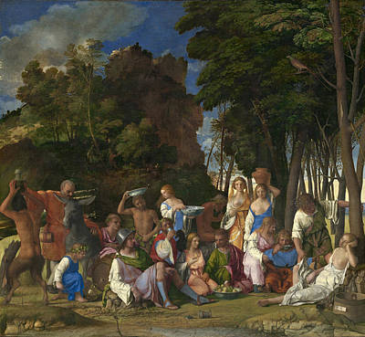 Painting - The Feast Of The Gods by Titian