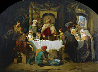 The Feast Of The Tabernacles Art Print