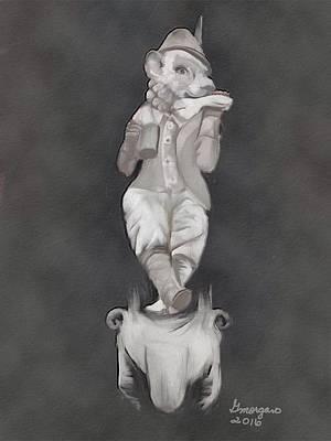 Digital Art - The Feasting Fox by Gerry Morgan