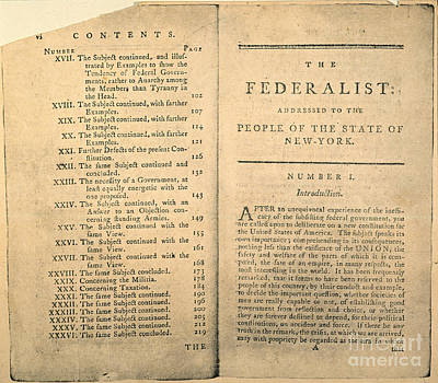 Photograph - The Federalist, 1788 by Granger