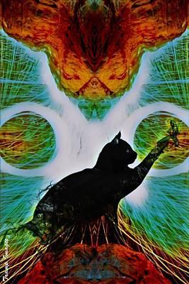 Digital Art - The Feline by Wesley Nesbitt
