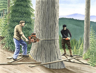 Drawing - The Fellers by Timothy Livingston