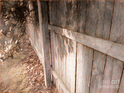 Mixed Media - The Fence by Susan Lafleur