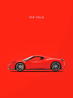 Photograph - The Ferrari 458 Italia by Mark Rogan