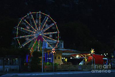 Digital Art - The Ferris Wheel Greece by Donna L Munro