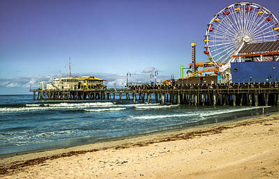 The Ferris Wheel - Santa Monica Pier Art Print