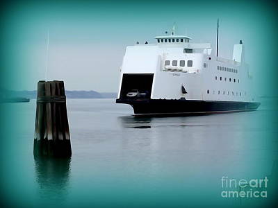 Digital Art - The Ferry Boat Crossing by Ed Weidman