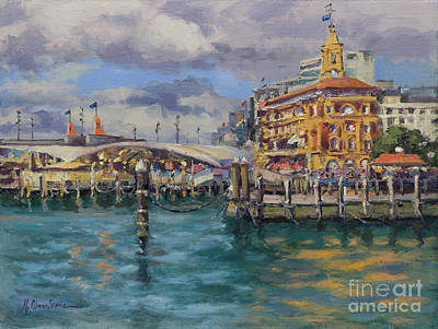 Painting - The Ferry Building, Auckland, New Zealand by Kristen Olson Stone