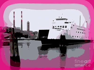 Digital Art - The Ferry Crossing #2 by Ed Weidman