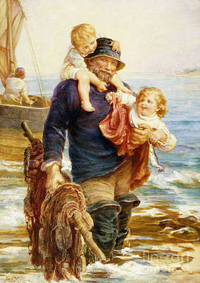 Sailors Girl Painting - The Ferry by Frederick Morgan