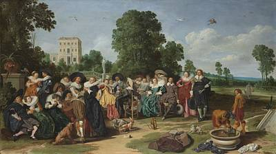 The Fete Champetre, 1627 Art Print by Dirck Hals