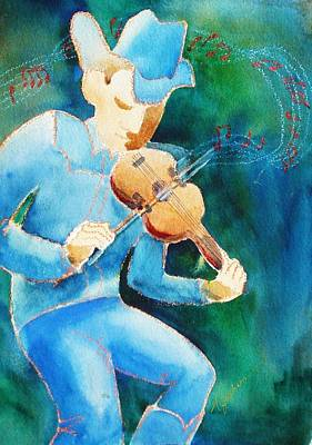 The Fiddler Art Print by Marilyn Jacobson