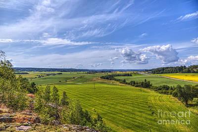 Painterly Photograph - The Field Scenery by Veikko Suikkanen