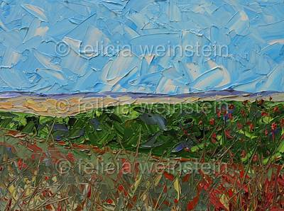 Painting - The Fields 1 by Felicia Weinstein