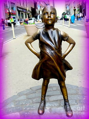 Digital Art - The Fearless Girl #1 by Ed Weidman