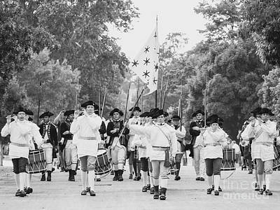 Marching Band Photograph - The Fifes And Drums In Colonial Williamsburg by Rachel Morrison