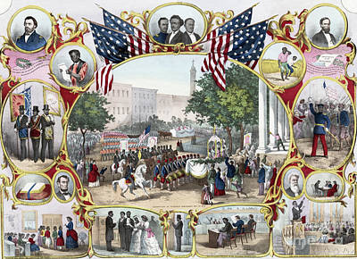 Washington Monument Wall Art - Painting - The Fifteenth Amendment by James Carter Beard