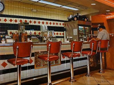 The Fifties Diner 2 Original by Doug Strickland