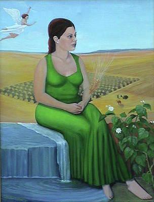Girl In Wheat Field Painting - The Fiftieth Secret by Ben Avant