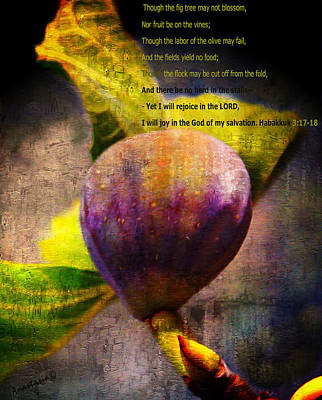 Digital Art - The Fig Has Fruited by Anastasia Savage Ealy