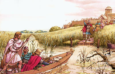 Canoe Painting - The Fighter From The Fens by Pat Nicolle