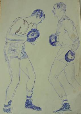 Drawing - The Fighters. by Mike Jeffries