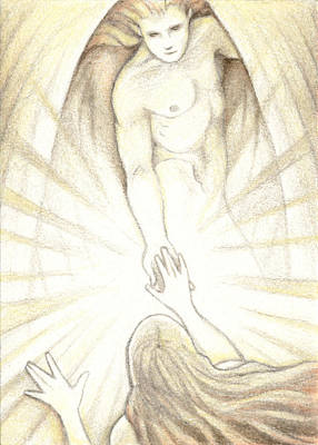 Resurrection Drawing - The Final Journey by Amy S Turner