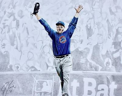 Chicago Cubs Drawing - The Final Out by Jonathan Moore