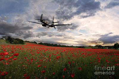 Poppies Field Digital Art - The Final Sortie by J Biggadike