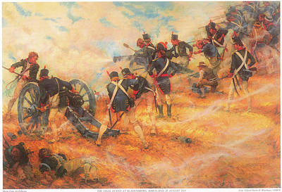 The Final Stand At Bladensburg Maryland In Defense Of Washington D C Art Print by Charles Waterhouse