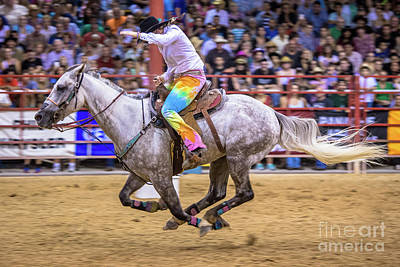 Photograph - The Final Stretch Of The Barrel Race by Rene Triay Photography