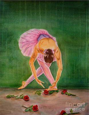 Dance Ballet Roses Painting - The Finale by Bonnie Schallermeir