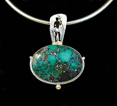 Silver Turquoise Jewelry - The Find Of The Maasai Boy by Marie-Claire Dole