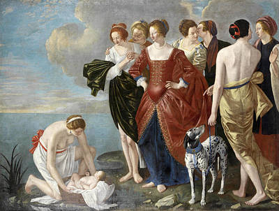 Painting - The Finding Of Moses 2 by Orazio Gentileschi