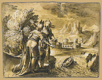 Drawing - The Finding Of Moses by Hermann Weyer