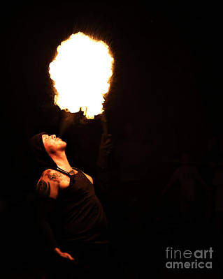 Photograph - The Fire Breather by Elizabeth Winter