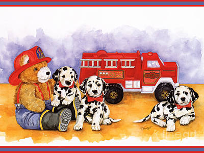 The Fire Brigade Original by TEDDY BEARS ONLY Wendy Tosoff