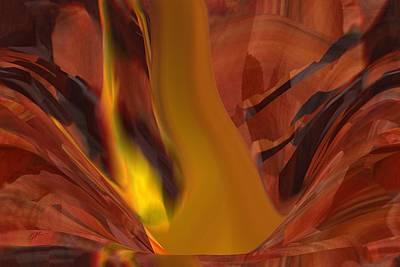 Digital Art - The Fire From Below by rd Erickson