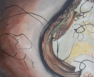Wall Art - Painting - The Fire Inside by Hasaan Kirkland