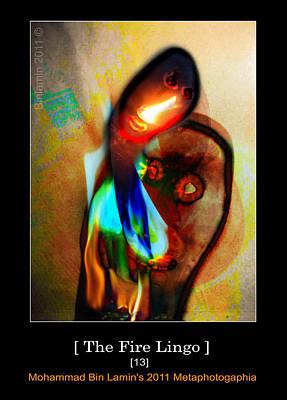 Mohammad Digital Art - The Fire Lingo by MBL Binlamin