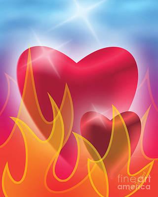 Wall Art - Digital Art - The Fire Of The Heart Of God by Lynn Zuk-Lloyd