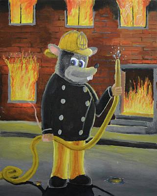 The Fire Rat Original by Winton Bochanowicz
