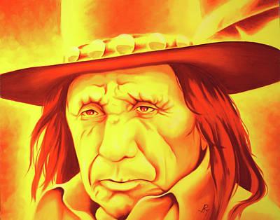 Robert Martinez Painting - The Fire by Robert Martinez