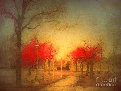 The Fire Trees Art Print