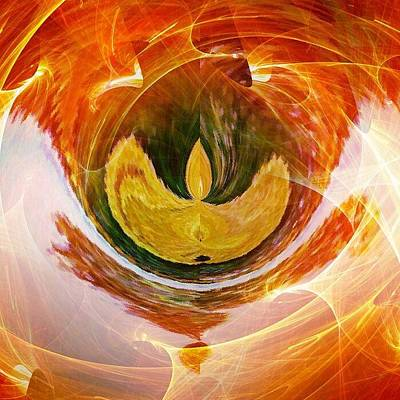 Digital Art - The Firebird by Contemporary Art