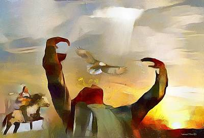 Painting - The First Americans - The Great Spirit by Wayne Pascall