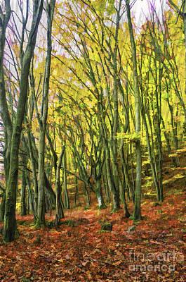 The First Autumn Rain In The Carpathians Original
