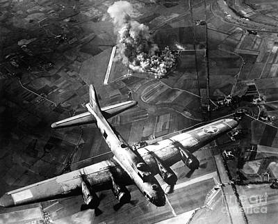 Photograph - The First Big Raid By The 8th Air Force by Stocktrek Images